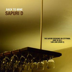 Back To Mine: Sapuri D (from the Sapuri Sessions on CityFM89)