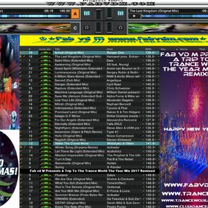 Fab vd M Presents A Trip To The Trance World The Year Mix 2017 Remixed