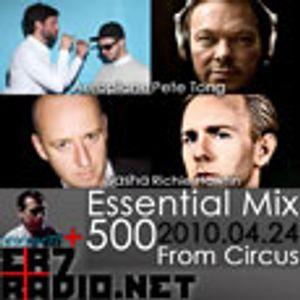 Essential Mix 500th Aeroplane, Pete Tong, Sasha, Richie Hawtin (2010-04-24)