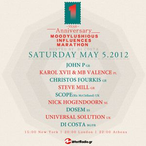 MoodyLushious Influences One Year Anniversary (May'12 Edition) (Guest Mix By Christos Fourkis)