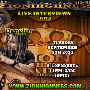 DANGLIN LIVE INTERVIEW ON ZIONHIGHNESS RADIO 090517