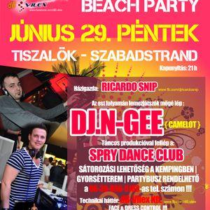 Ricardo Snip - Live @ Backwater Beach After, Tiszalök 2012.06.30.