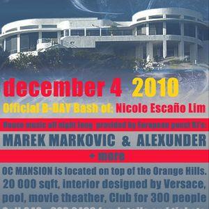 Live @ Mansion - December 4, 2010 - part 1