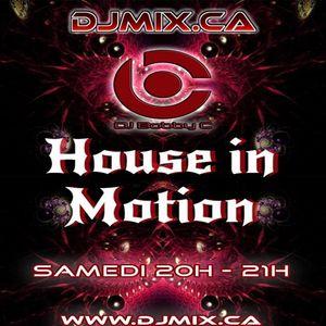 DJ Bobby C - House In Motion Radio Show #1 (2017-10-14) DJMIX.CA