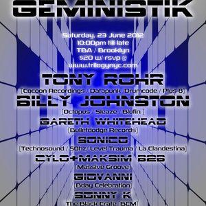 Giovanni Dj Set @ Trilogy presents: Geministik