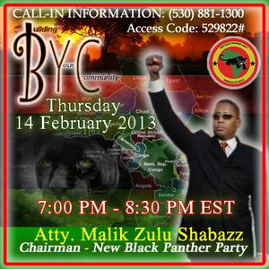 Malik Zulu Shabazz - 2/14/2013 Current Affairs Pt. 2 (The Black Agenda)