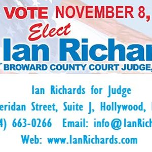 Mr. Ian Richards Candidate for Broward County Judge Group 7