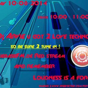 Dj Arvie CuebaseFM got 2 love techno mix 10-08-2014