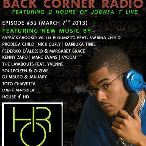 BACK CORNER RADIO: Episode #52 (March 7th 2013)