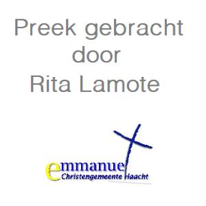 2017-07-23 Stilte is de volle aanwezigheid van God door Rita Lamote