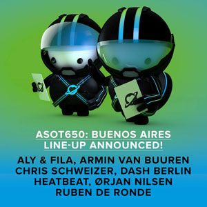 Armin van Buuren - Warm-up @ A State of Trance 650 in Buenos Aires, Argentina  (01.03.2014)