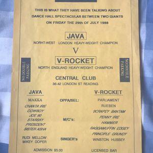Dub Clash - Java Nuclear v V-Rocket@Central Club Reading UK 29.7.1988