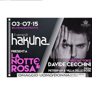 Diretta Live Venerdì 26 Giugno @ HAKUNA (PE)