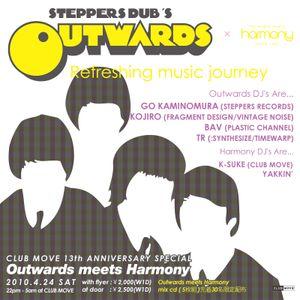2010. 4. outwards×harmony mix by DJ K-SUKE (club move shiga)