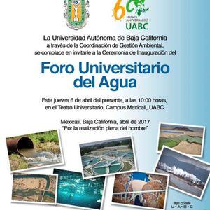 FORO UNIVERSITARIO DEL AGUA-CONFERENCIA MAGISTRAL