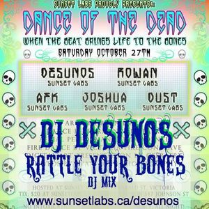 dj desunos - rattle your bones (dj mix) Live at Dance of the Dead, Sunset room, Victoria BC