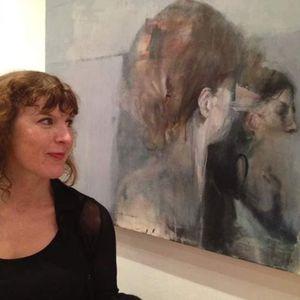 Martina Mercer chatting with artist Sarah Shaw 10.11.19