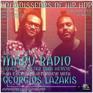 Connoisseurs Of Hip Hop Episode93 Georgios Lazakis_Lenea Herew_Marv Radio