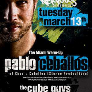 Pablo Ceballos - Live @ The Miami Warm-Up, Cielo Club, New York, E.U.A. (13.03.2012)