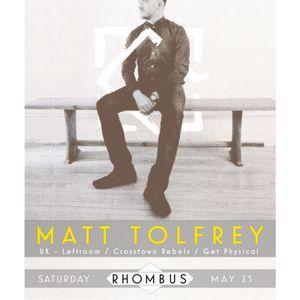 Rhombus pres. Matt Tolfrey