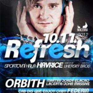 John Massive pres. REFRESH #1 (10.11.2012)