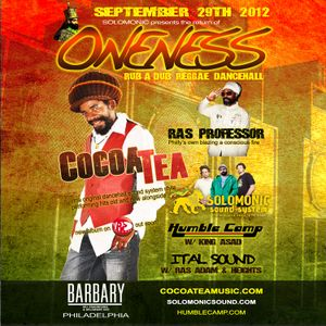 COCOA TEA @ ONENESS w/ Solomonic Sound System (9-29 - Barbary, Philly)