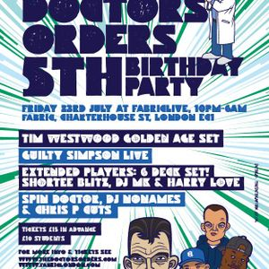 Spin Doctor - The Doctor's Orders 5th Birthday Mix