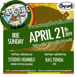 Jamstyle On Renegade Radio (april 2019)   Ras Tenda  