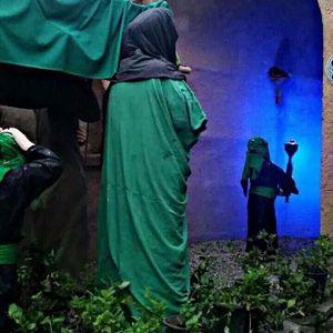 (1)موكب تشييع السيدة فاطمة الزهراء (عليها السلام) في مسجد المشرف -جدحفص -تسجيل علي خضير