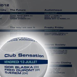Fred Dupont rework DJ set @ The Studio of the Montreux Jazz Festival 2012