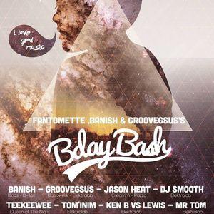 16/05/15-Dj Smooth @Groovegsus, Banish & Fantomette's B-Day (Club Diodon,BXL)