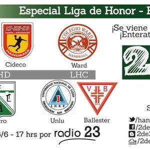 Especial Liga de Honor Caballeros 26/06/15