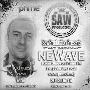 SawProduction pres. neWave: - Moó aka. Leslie Moor Live on PrimeFM (2012-06-16)