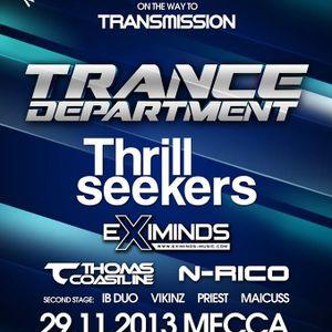 N-Rico - Live@Trance Department ( Transmission ) 29112013