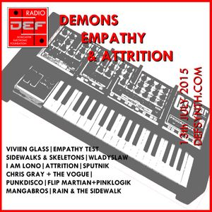 Doncaster Electronic Foundation Radio - 13th July 2015 - part 2:Empathy, Demons and Attrition