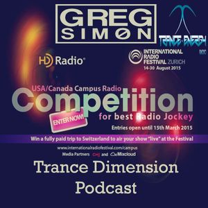 IRF Search for the Best US/Canada College Radio Jockey 2015 | Greg Simøn | Trance Dimension v. 15