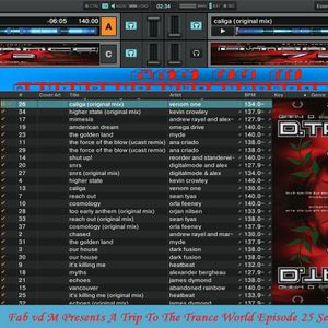 Fab vd M Presents A Trip To The Trance World Episode 25 Season 3 Remixed