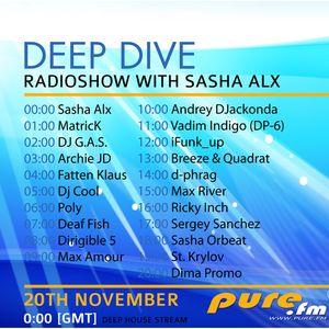 Sasha Alx - The 1st Anniversary Of Deep Dive pt.01 [20-Nov-2011] on Pure.FM