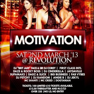 MOTIVATION 'BETWEEN THE SHEETS' SLOW JAMZ MIX CD - MIXED BY DJ JEKYL