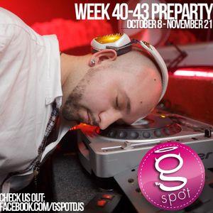 WEEK 40-43 Preparty (October 8 - November 21)