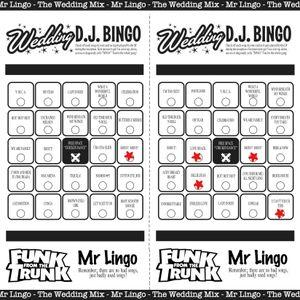 Wedding D.J. Bingo - The Wedding Mix