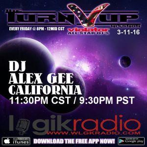 DJ ALEX GEE 80'S MIX 3-11-16 THE TURN UP SHOW VIOLATOR ALL STAR DJS