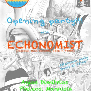 Oranje beach bar opening party with Echonomist on 6/7/2013