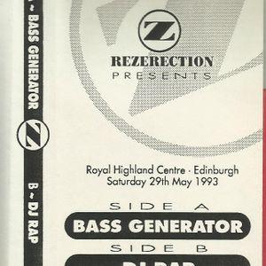 Bass Generator @ Rezerection Diamond 29th May 93 - Anthem Time