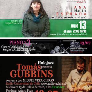 Audio HoloJazz. Ana María Estrada, Martin Joseph, Sergio Valenzuela, Oscar Carmona y Tomas Gubbins