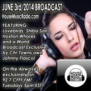House Music Radio 2014 June 3rd Broadcast