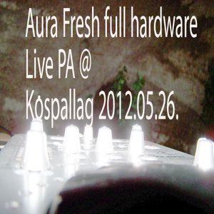 Aura Fresh full hardware Live PA @ Kospallag 2012 05-26