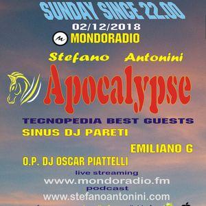 Apocalypse radioshow on Mondoradio 02/12/2018 episode#77 Stefano Antonini