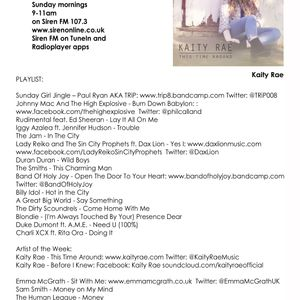 Tracey Edges - Sunday Girl (no.139) 22/05/16