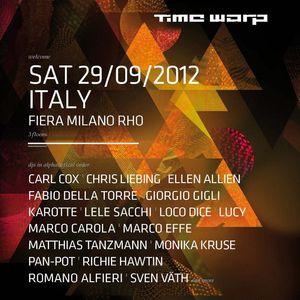 Giorgio Gigli - Live @ Time Warp Italy 2012, Milão, Itália (29.09.2012)